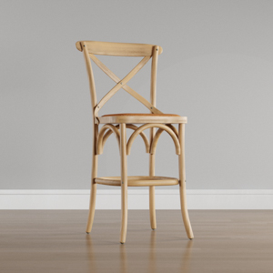 Franklin 30.7 in. Weathered Oak Bar Stool