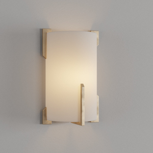 Quantum 2-Light Gold Leaf Wall Mount Sconce